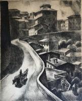 """Patkó Károly ( 1895-1941 ) """" Perugia 1930 """""""