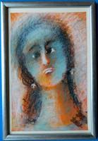 """Bada Márta (1951- ) - """"Mária"""" (olajpasztell, 2009.)"""