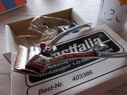 Régi hajnyírógép, eredeti dobozon