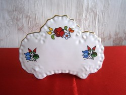 Eredeti kézzel festett kalocsai porcelán nagyon ritka névjegykártya tartó