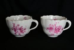 Békebeli Schlaggenwald antik porcelán teáscsésze - Verő Budapest - kézzel festett