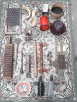 Parasztház - vendégház dekorációs csomag - régi háztartási tárgyak - mángorló, szódás szifon stb