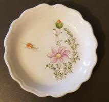 Aquincumi virágos porcelán kis tálka