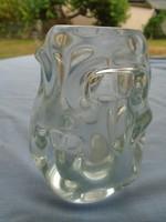 Kosta & Boda szignált különleges üveg exkluziv váza igen nehéz 1056 gramm