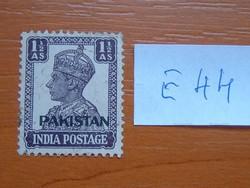 """PAKISZTÁN 1-1/2 A 1947 India postai bélyegek """"PAKISTAN"""" felirattal, kicsi E44"""