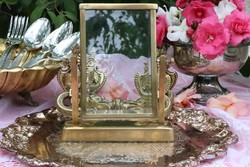 Bronz asztali fotó ,fényképtartó