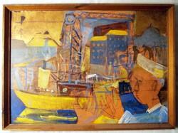 Kondor Béla - Hajódaru című festménye