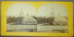 Sztereofotó amerikai város részletről: Capitolium és botanikus kert (Washington)