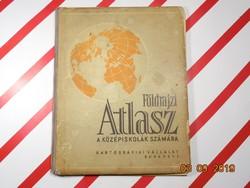 Földrajzi Atlasz 1967 - Középiskolák számára - retro tankönyv