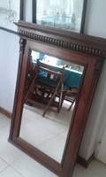 Igényesen felújított, antik fakeretes hatalmas tükör eladó.