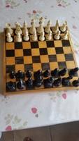 Intarziás antik fa sakk-készlet eladó!