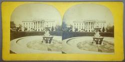 Sztereofotó amerikai város részletről: Fehér Ház (Washington)
