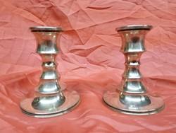 2 ezüst gyertyatartó