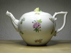 ETON mintás herendi porcelán teáskanna 1955 kanna kiöntő