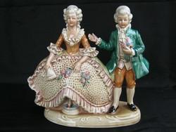 Német porcelán nagyobb méretű barokk pár
