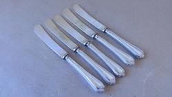 5 db sterling ezüstnyeles vajazó kés 1936-ból