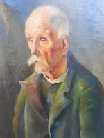 Id. Benedek Jenő ( 1906 - 1987 ) Férfi portré. Ritka portréi egyike. Garantáltan eredeti