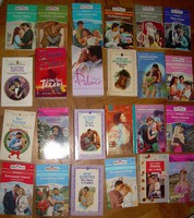 68 darab angol nyelvű romantikus regény Harlequin, Mills&Boon