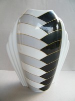 Op-art mintás, különleges formájú, nagy méretű Eschenbach váza
