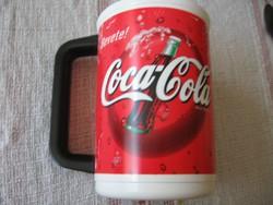 Retro Coca cola USA hidegen tartó bögre, pohár