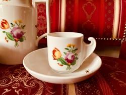 Antik biedermeier Elbogen készlet, 3 csésze, kanna