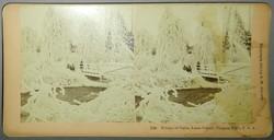 Sztereofotó amerikai Sóhajok hídjáról télen, 1893