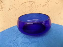 Retro vastag kék üveg tál (6p)