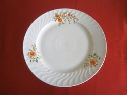 Nagyon régi virág mintás süteményes porcelán kínáló tál, tányér 30 cm átmérő