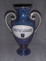 Porcelán füles váza Társadalmi Munkáért Szeol AK elnöksége 28 cm  (2/d)