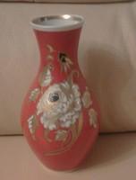 Aranyozott, kézzel festett Schau-Bach-Kunst váza