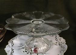 Régi üveg  tortatartó  szép forma