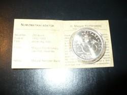 1993 ezüst 200 Ft certivel kapszulában