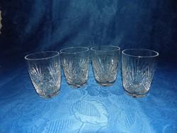 Kristály üveg pohár készlet 2+2 db (14/K)