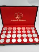 Ezüst 1976-os Montreáli XXI. olimpia 5-10 dollárosok