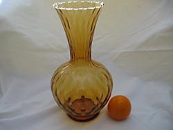 Art deco borostyán, hullámos, kézműves váza