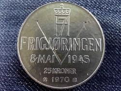 Norvégia A felszabadulás 25. évfordulója .875 ezüst 25 Korona 1970 / id 10155/