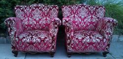 Nagyon szép állapotban eredeti Neobarokk Legyező fotelek Párban!