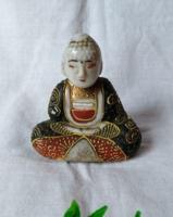 Régi jelzett japán mini Buddha figura (1) 6 cm