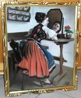"""Festmény """"Réti 1942"""" szignóval"""