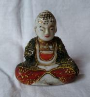Régi jelzett japán mini Buddha figura (2) 6 cm