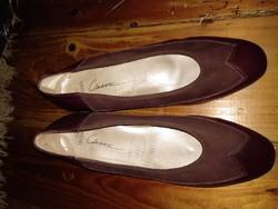 40-41-es bordó női bőrcipő, vintage valódi bőr lábbeli
