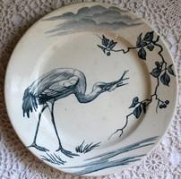 K & G Luneville antik francia fajansz tányér RAR
