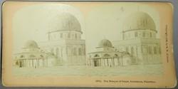Sztereofotó jeruzsálemi mecsetről, 1899