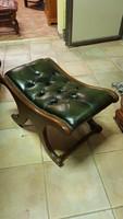 Cesterfild zöld bőr ülőke
