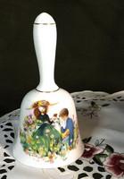 Staffordshire porcelán csengő gyerek jelenetes