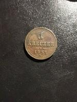 1851 1 krajcár B