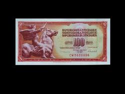 UNC - 100 DINÁR -  JUGOSZLÁVIA - 1986 !!