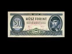 UNC - 20 FORINTOS - AZ UTOLSÓ NYOMTATOTT SZÉRIÁBÓL - 1980