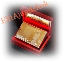 24 karátos arany póker kártya szett fa dobozban