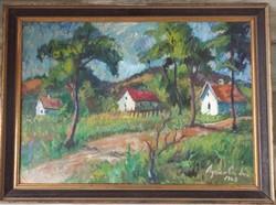 Agricola Lídia - házak a domboldalon - 1968 -